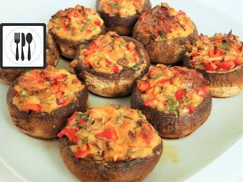 Фаршированные грибы по-турецки/Долма из грибов с перцем и сыром/Mantar dolmasi - YouTube