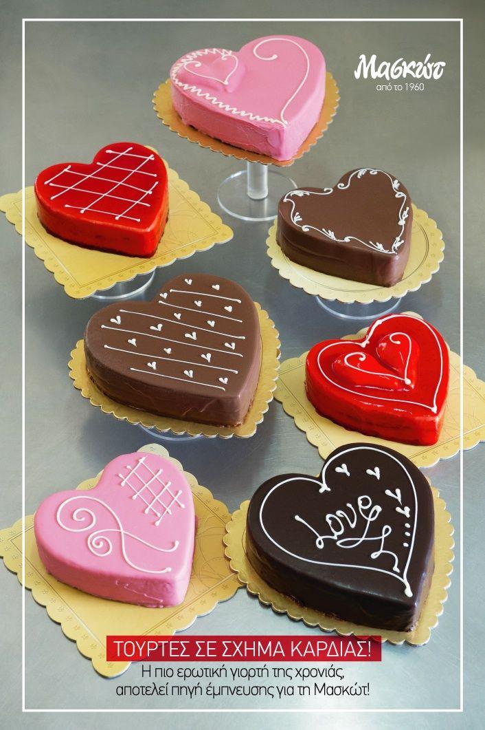Γλυκές δημιουργίες για τη μέρα των #Ερωτευμένων! #Τούρτες <3   Credits: © Vicky Lafazani - Installation text: Roligraphics / Graphic Designer