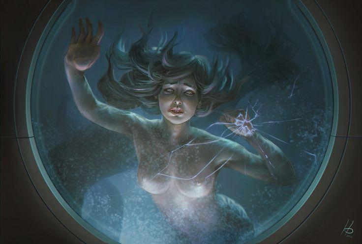 Dark Mermaid Art 967 best images about ...