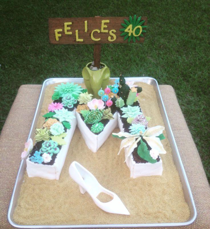Succulent Garden Cake