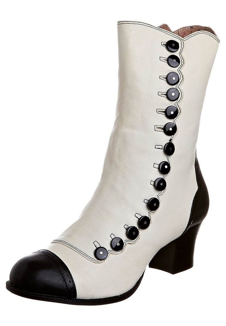 modern victorian boots--at last---something that I can really wear with my ankles. love the heel.