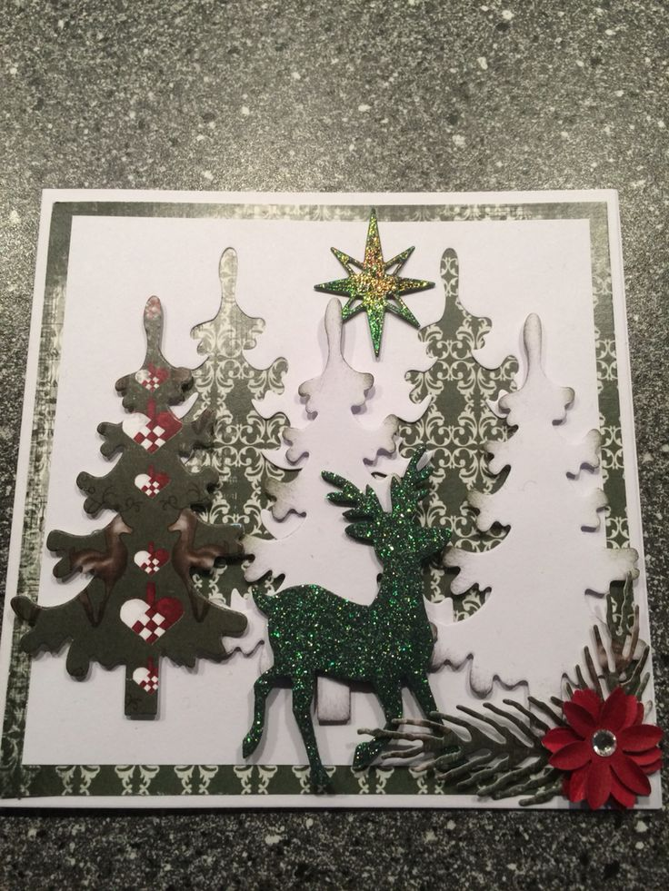 Julekort / Christmas card Juletræ / Christmas tree