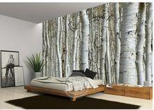 Muursticker behang witte berk bomen behang muurschildering wallpapers 3d behang gepersonaliseerde muurschilderingen wallpaer20151446(China (Mainland))