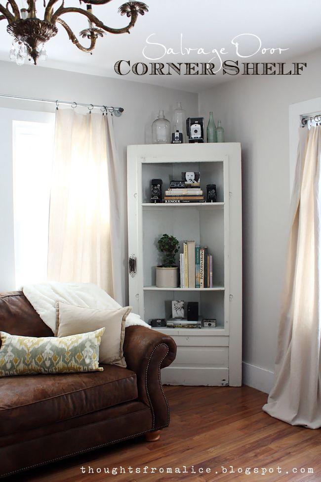 Thoughts from Alice: Salvage Door Corner Shelf