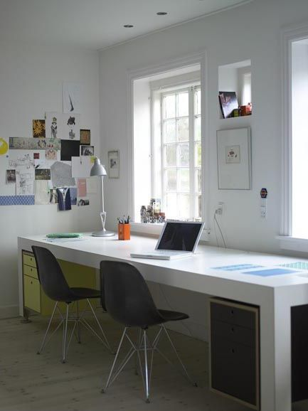 hoping to install a long double desk like this in our next place