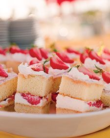 martha stewart rehearsal dinner ideas... Hello strawberry shortcakes.