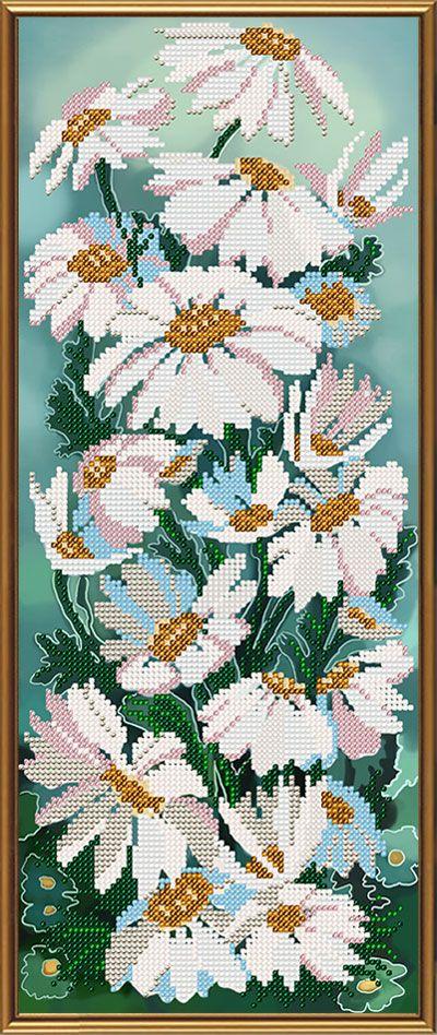 Купить Рисунок на ткани для вышивки бисером Ромашки и васильки : цена, продажа - Вышивка Бисером