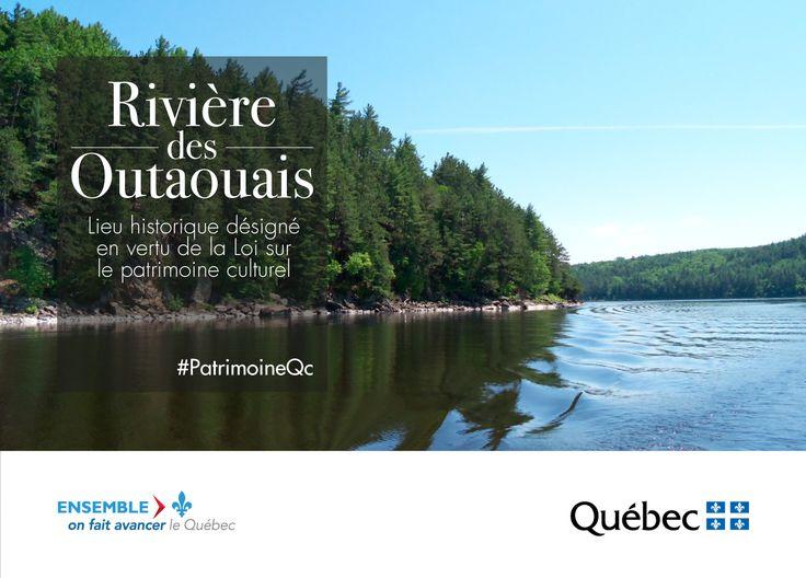 La rivière des Outaouais est désignée comme lieu historique. #PatrimoineQc #CultureQc #RPCQ