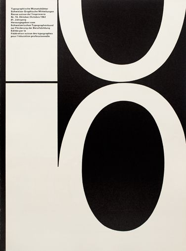 TM RSI SGM 1960–90/ Cover from 1962 issue 10/   Cover Design André Gürtler Bruno Pfäffli/ Typeface Univers