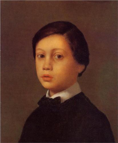 Edgar Degas (French: 1834–1917) - Portrait of Rene Degas (1855)