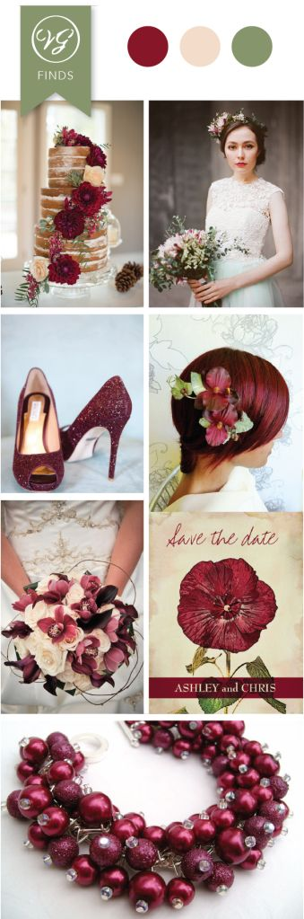 25 #Burgundy #Wedding Ideas for your Fall and Winter Weddings.