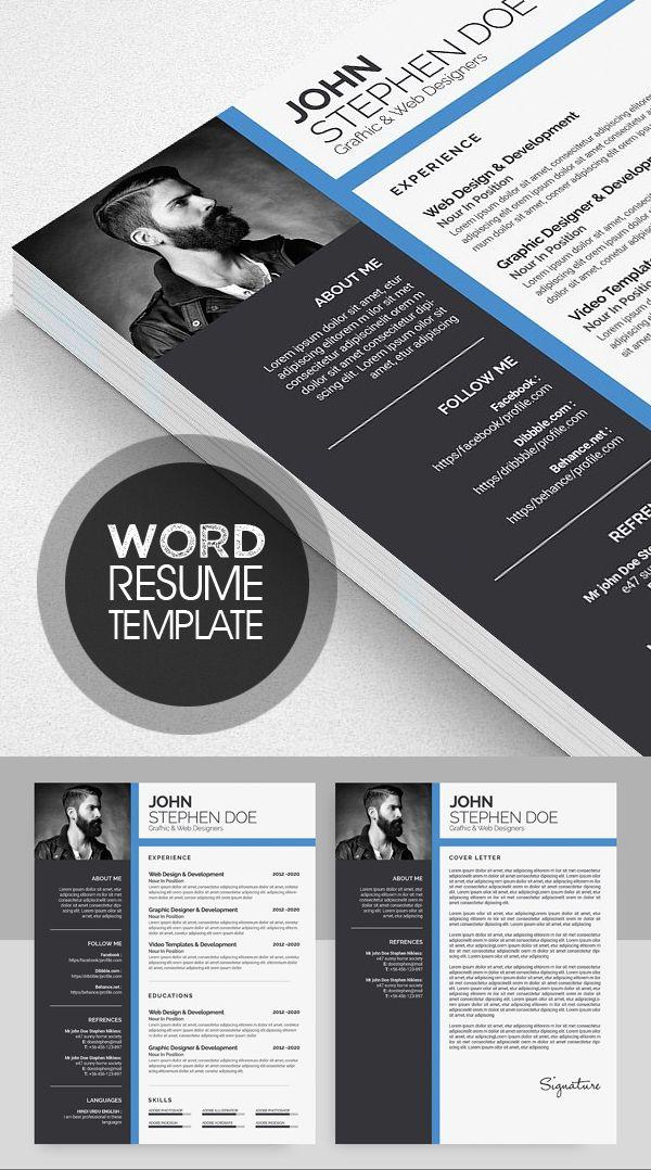 Microsoft Word Resume Template #photoshopresume #resumetemplate #wordresume #cvresume #resumedesign #minimalresume #cleanresume #resumedownload