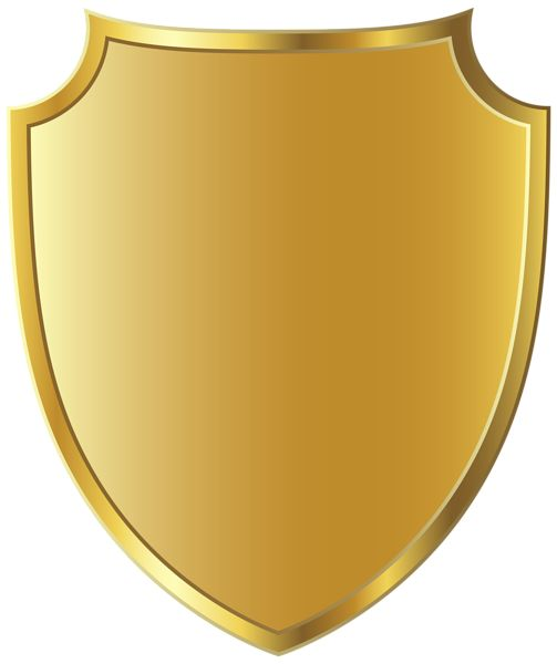 Golden Badge Template Clipart PNG Image