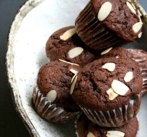 """Chocolate Muffins with Rum: """"These are rich and delicious. The rum adds a grown-up flavor to the muffins."""" -Tokyo sweets - marimo"""