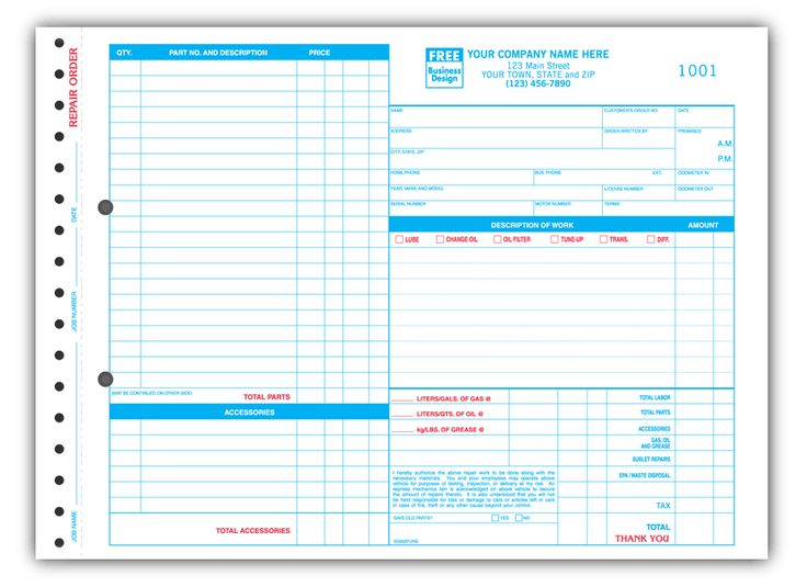 Download Repair Invoice Template Excel | Rabitah.Net
