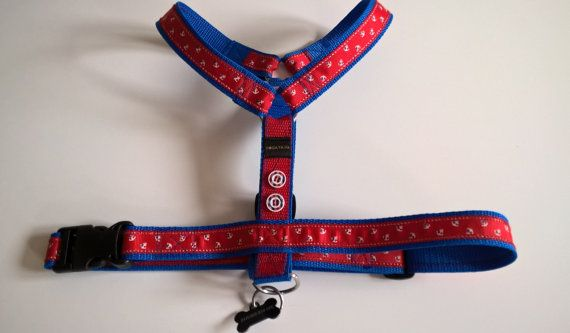 Lovely marine dog harness by DoGATAilla on Etsy