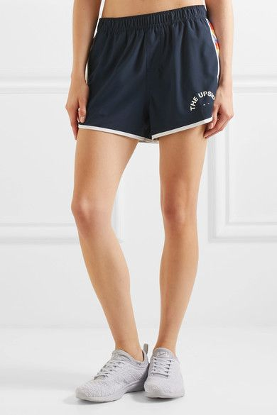 The Upside - Sunset Run Shell Shorts - Navy - x small