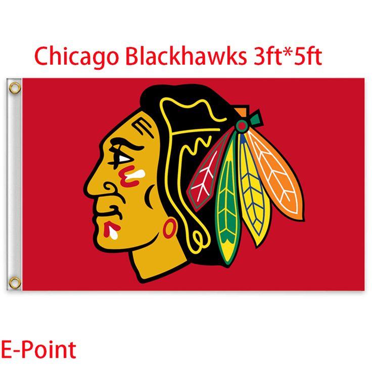 Чикаго блэкхокс сша национальной хоккейной лиги ( нхл ) флаг 3ft * футов