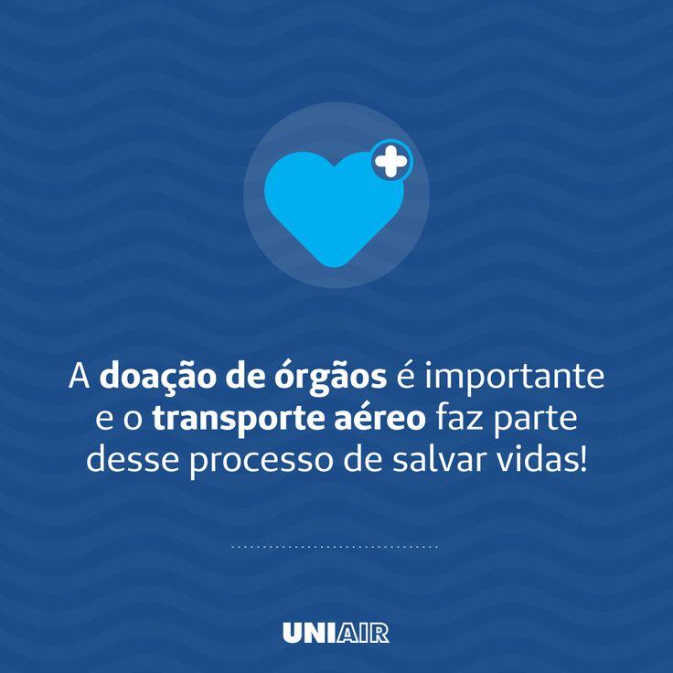 Diversas instituições buscam pelos nossos serviços com intuito de agilizar o transporte de equipes médicas envolvidas em transplantes de órgãos. Esses e outros serviços podem ser conferidos em: www.uniair.com.br