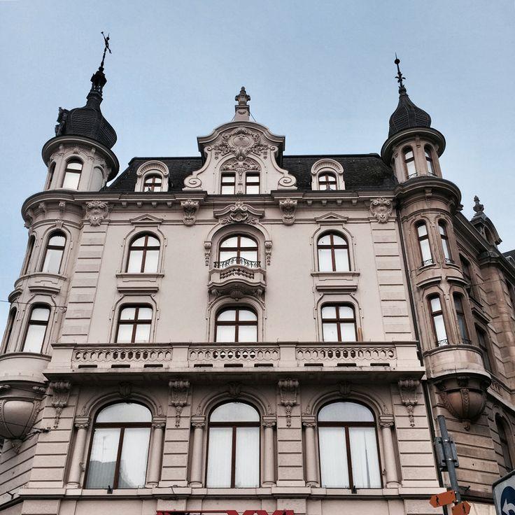 basel switzerland europe winter architecture grandeur facades street view marketplace marktplatz palace