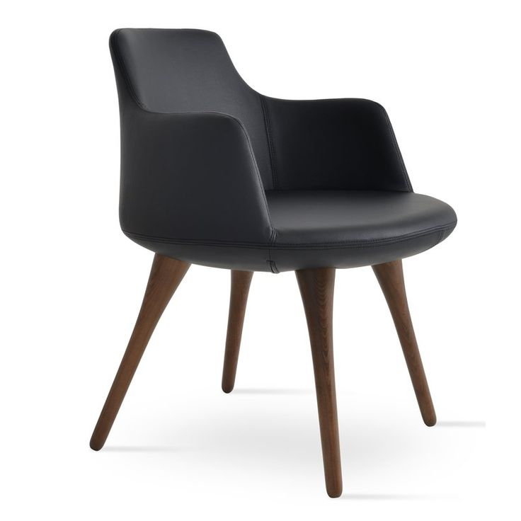 Wonderful Dervish Wood Chair Is A Modern Dining Chair With A Comfortable Upholstered  Seat And Backrest On Solid Beech Walnut Finish Legs. Gallery