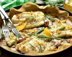 Cabillaud rôti au citron, ail et romarin:(www.facebook.com/GRAINE.DE.MARIN)