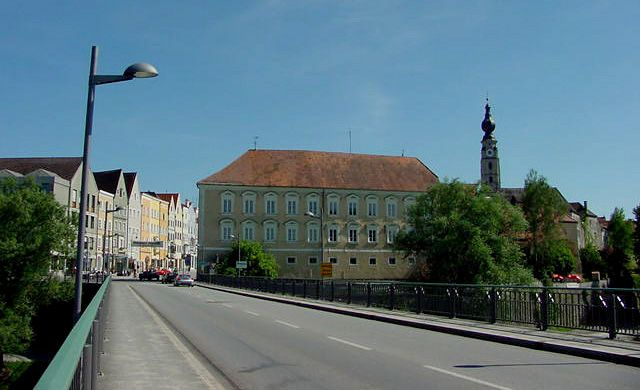 Braunau am Inn - Adolf Hitler's birthplace - bridge over Inn river