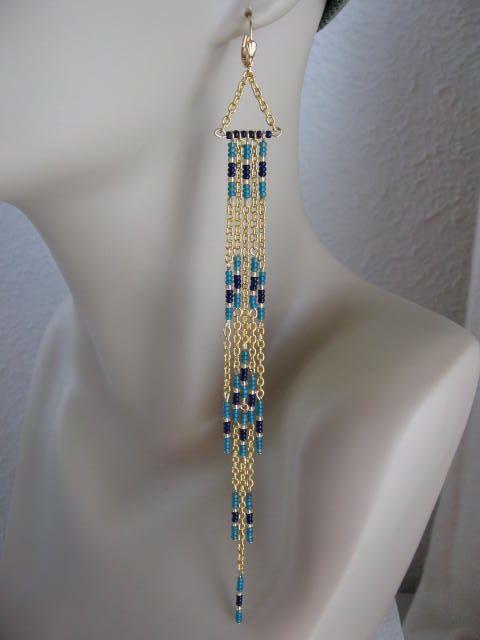 Modern Native American Seed Bead Earrings by Pattidoodle, via Flickr