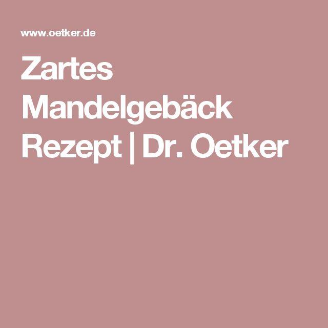 Zartes Mandelgebäck Rezept | Dr. Oetker