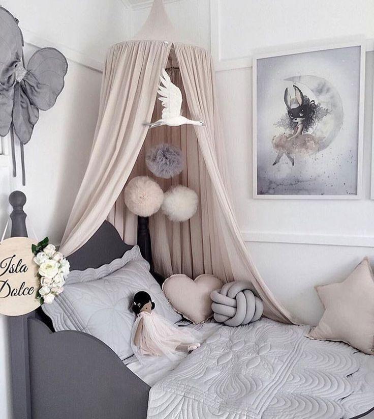 Schone Madchenzimmer Mit Grau Girls Room Girls Grau Madchenzimmer M Schone Madchenzimmer Mit Grau Girls Room Gi Girl Bedroom Decor Girl Room Bed Tent