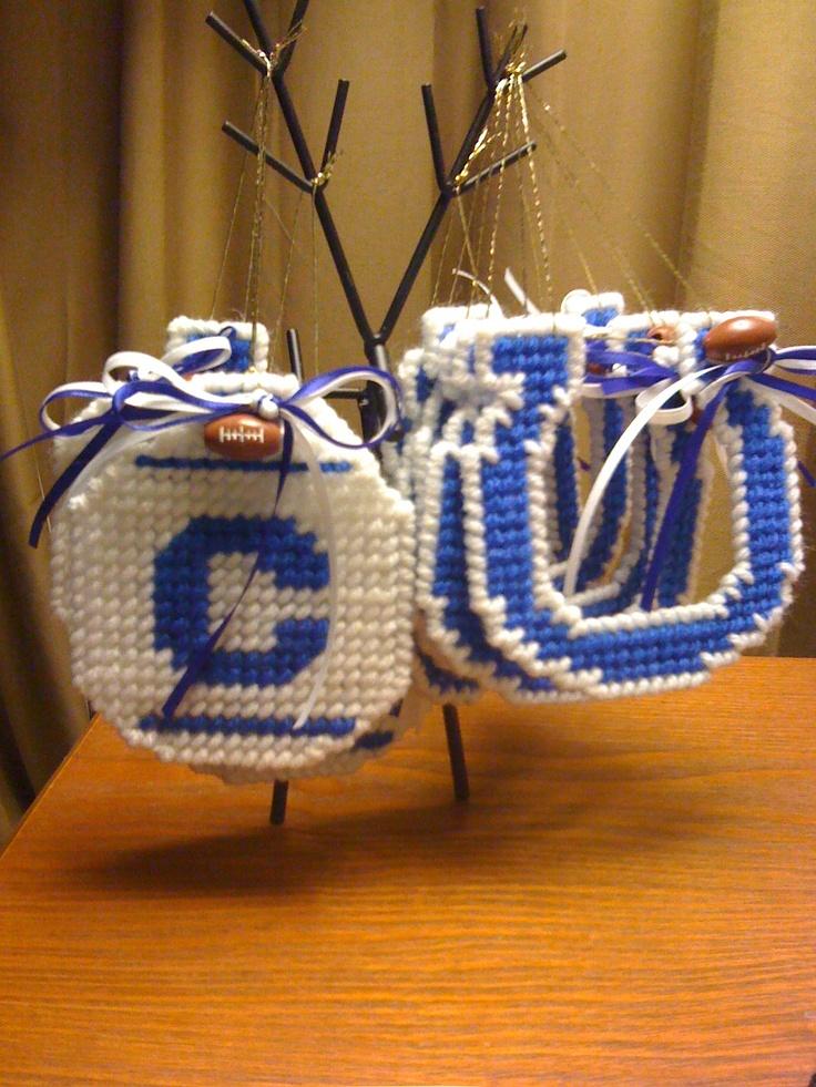 Indianapolis Colts Christmas Ornaments