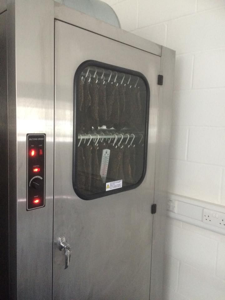 Biltong drying in the IDC-120 cabinet