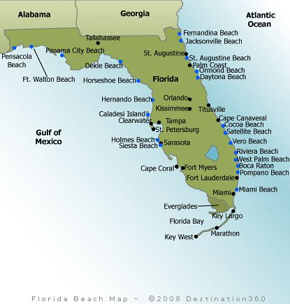 The 25 Best Florida Beaches Map Ideas On Pinterest