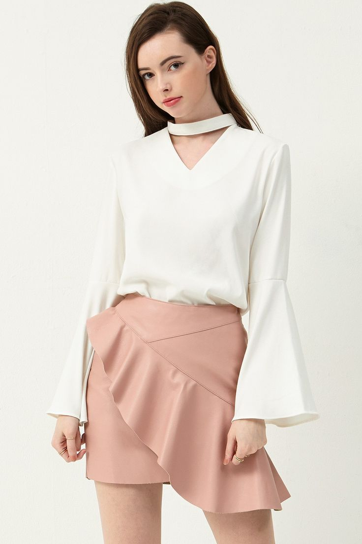 Abbie Faux Choker Blouse Discover the latest fashion trends online at storets.com