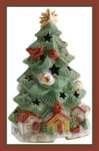 Ceramic Christmas Trees Scenterrific WQ510094 Christmas Trees Decorative Ceramic Fragrance Warmer Give your home a warm Chrismassy scent, with this ceramic Christmas Tree Fragrance warmer. Just place a scent disc onto the plate warmer.
