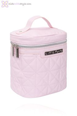 Pink Baby Bottle Cooler in Quilted Leatherette #babyaccessories #babygirlaccessories #bottlecooler #pinkbottlecooler #pinkbabyaccessories #babygirlaccessories #babygirlstuff #babystuff #bottlecooler