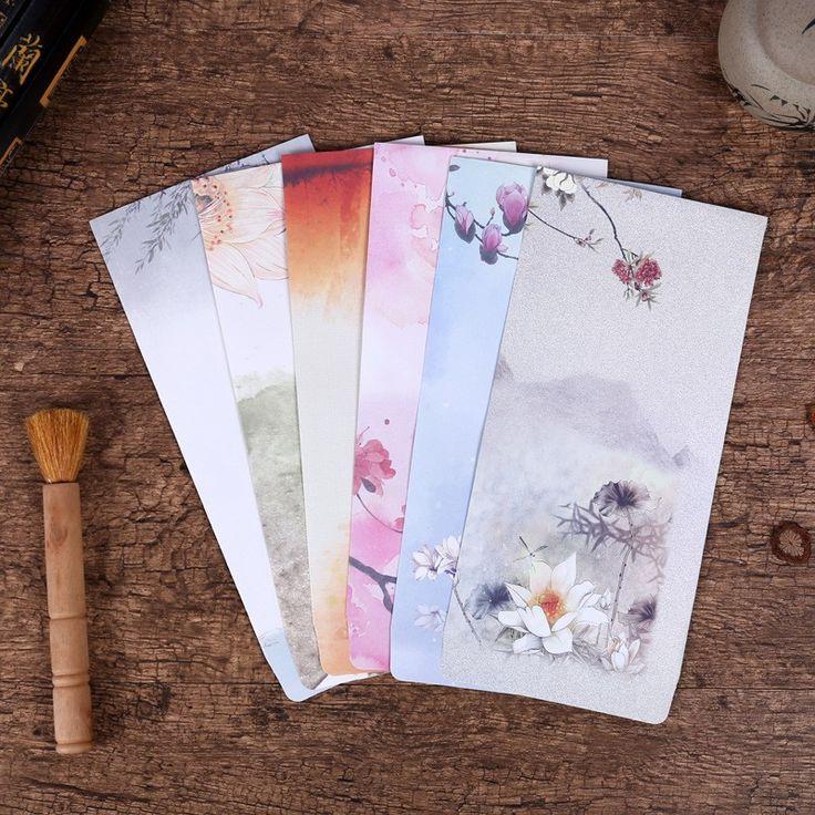 10 Pieces/Lot Vintage Gaya Cina Antik Kerajinan Kertas Kartu Pos Amplop Untuk Surat Kertas Korea Alat Tulis Gratis Pengiriman 272