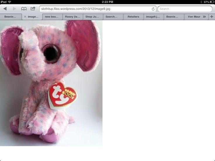 Elle the new elephant beanie boo 2014 made