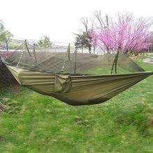 US $18.40 Hot Selling Portable Hammock Single-person Folded Into The Pouch Mosquito Net Hammock Hanging Bed For Travel Kits Camping Hiking. Aliexpress product