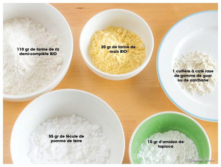 Mélange pour obtenir un équivalent à de la farine, pour toutes les préparations.