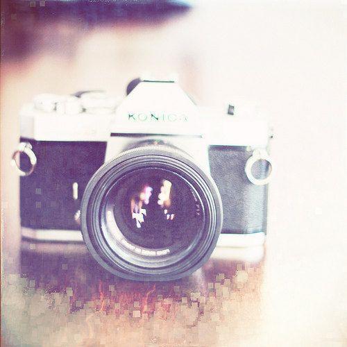 Camera Print: I Shoot Film 8x8 Fine Art Photography Vintage Camera Still life. $25.00, via Etsy.