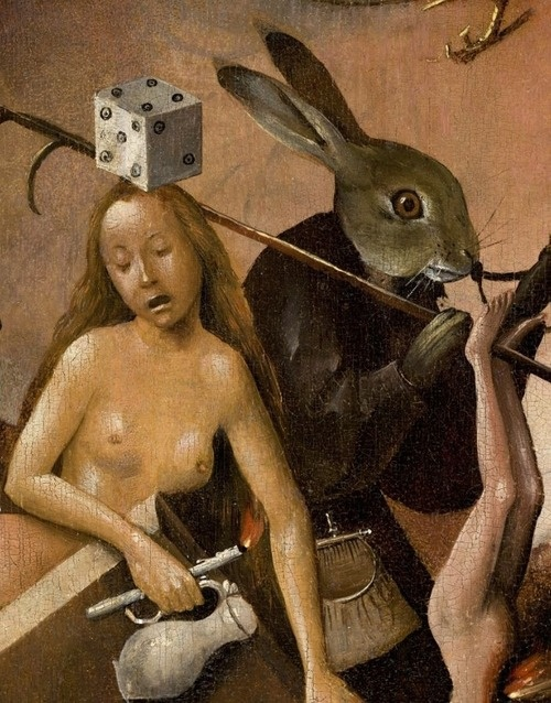 """Detail from """"The Garden of Earthly Delights"""", Hieronymus Bosch."""