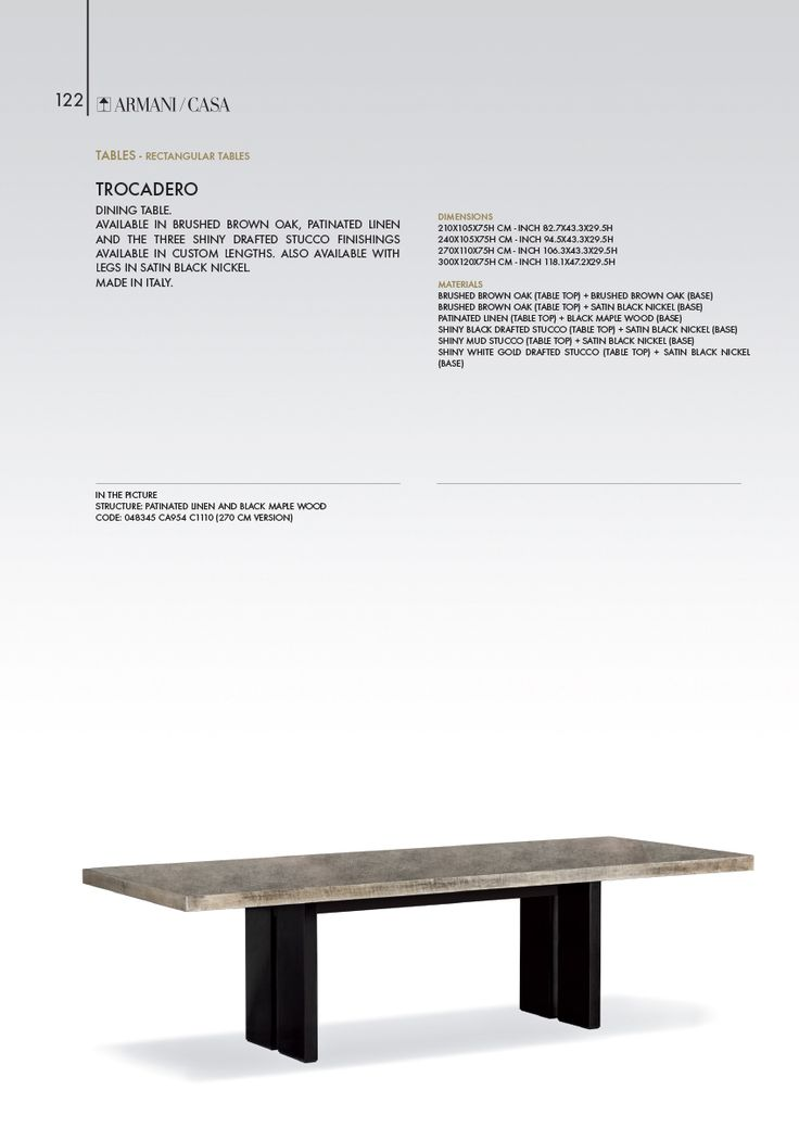 Tables | Armani/Casa