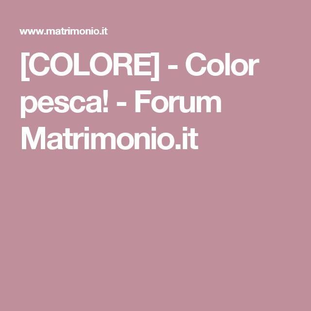 [COLORE] - Color pesca! - Forum Matrimonio.it