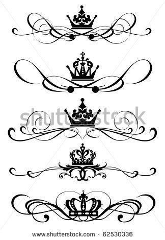 Royal carriage in silhouette royalty free stock vector art - 17 Best Ideas About Princess Crown Tattoos On Pinterest