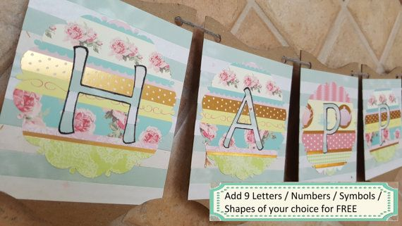 Happy Birthday Banner / Birthday Party Decor / by ClairPaperCrafts