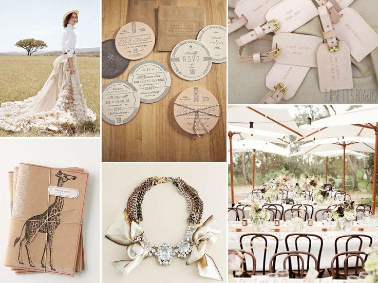 Circle Invitations... so clever and cute! {safari themed wedding}