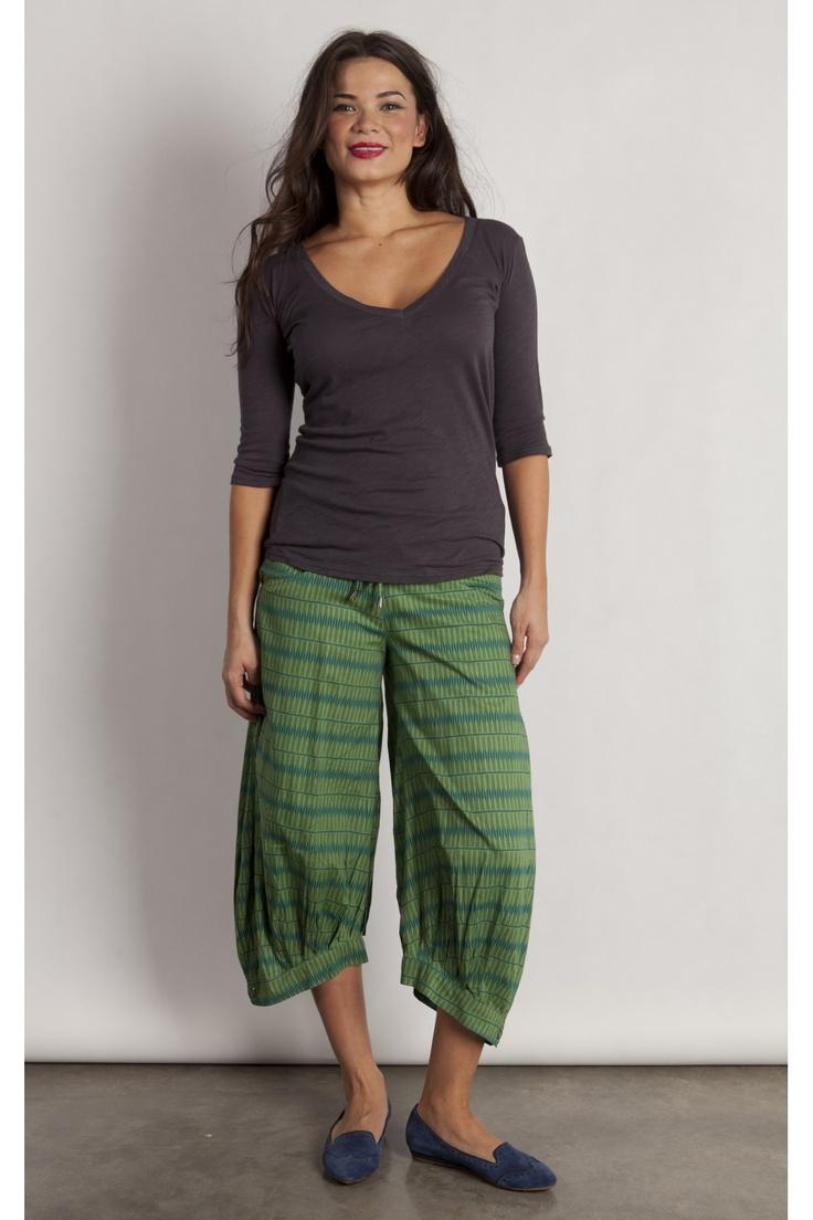 Tribal Green Guru Pants - $79.00 from Enzo and Toto www.enzoandtoto.com/shop/Clothing/Pants/Tribal-Green-Guru-Pants/