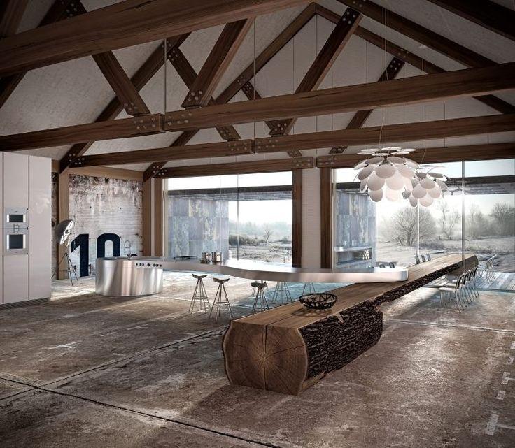 ber ideen zu baumstamm tisch auf pinterest. Black Bedroom Furniture Sets. Home Design Ideas