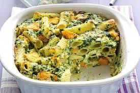 Pumpkin and Spinach Pasta Bake Recipe